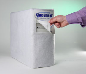 ShopShield™ CPU Cover Showing Door Flap